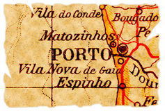 Porto old map Stock Images