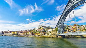 Porto old town and Douro river, Portugal stock video footage