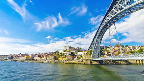 Porto old town and Douro river, Portugal stock video