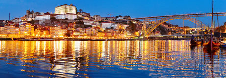 Porto Old Town panorama, Portugal stock photography