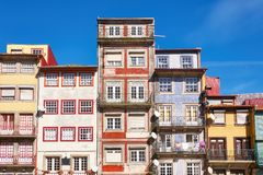 Porto old town traditional facades royalty free stock photos