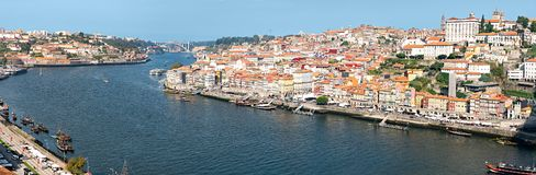 Porto Portugal. Wide Panoramic view in High resolution stock photography
