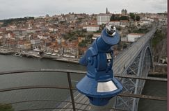 Porto / Oporto. A panoramic view of Oporto, an UNESCO world heritage city, from Serra do Pilar just above D. Luiz I bridge Stock Image