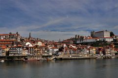 Porto / Oporto. A panoramic view of Oporto, an UNESCO world heritage city Stock Photos