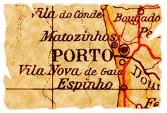 Porto oude kaart Stock Afbeeldingen