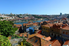 Porto Oude Stads luchtmening, Portugal royalty-vrije stock afbeeldingen