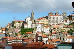 Porto Oude Stadshorizon, Portugal Stock Afbeeldingen