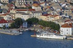 Porto in PAG fotografia stock libera da diritti