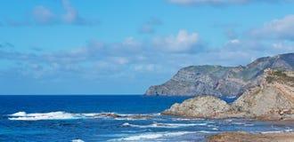 Porto Palmas sea. Blue wavy sea in Porto Palmas Stock Photography