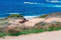 Porto Palmas waves. Blue wavy sea in Porto Palmas Royalty Free Stock Photos