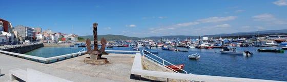 Porto panorâmico de Fisterra Fotos de Stock Royalty Free