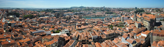 Porto panorama Royalty-vrije Stock Fotografie