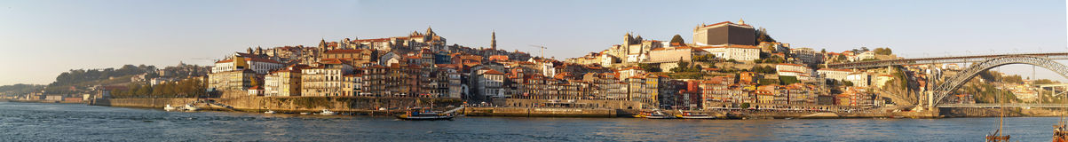 Porto Panorama. A full panorama of the Porto's river view Stock Image