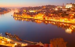 Porto panorama at twilight Stock Photos