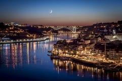 Porto par nuit Photographie stock