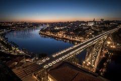 Porto par nuit Images libres de droits