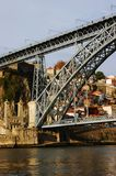 Porto:A part of  Don Luis Bridge Stock Photography