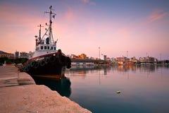 Porto a Patrasso Fotografia Stock Libera da Diritti