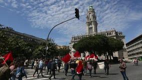porto Pendant la célébration du mayday au centre de la ville clips vidéos