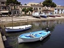 Porto Petro dock. Fishermen dock in Porto Petro (Majorca Stock Photo