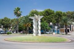 Porto Petro roundabout sculpture Stock Image