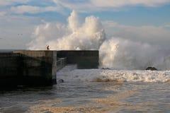 porto pierwszy burza zdjęcia stock