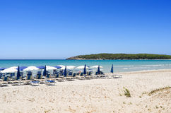 Porto Pino plaża, Sardinia Fotografia Stock