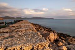 Porto Pino At Sunset, Sardinige Italië royalty-vrije stock afbeeldingen