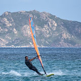 PORTO POLLO, SARDINIA/ITALY - MAY 21 : Windsurfing at Porto Poll Royalty Free Stock Photos