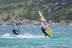 PORTO POLLO, SARDINIA/ITALY - MAY 21 : Windsurfing at Porto Poll Stock Image