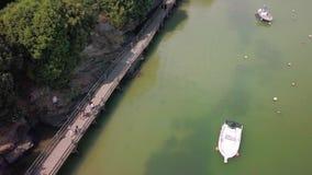Porto pornic france do topview aéreo filme