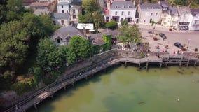 Porto pornic france do topview aéreo vídeos de arquivo