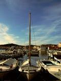 Porto, porticciolo, molto, barche, isola, vita, mare, barca, bellezza immagini stock