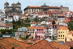 Porto, Portugal. View of Porto buildings in Portugal Stock Images