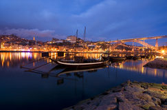 Porto - Portugal. View of Porto at night Stock Photo