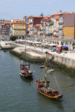 Porto - Portugal. A view of the Ribeira district and Douro River in Porto Portugal. This river front area is a popular tourist area stock photography