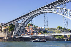 Porto , Portugal. D. Luis 1 bridge, Porto , Portugal Royalty Free Stock Photo