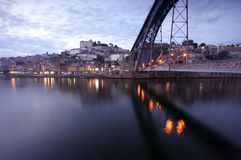 Porto - Portugal. View of Porto at night Stock Images