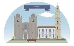 porto portugal stock illustrationer