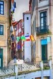 Porto, Portugal old town narrow street view Royalty Free Stock Photos