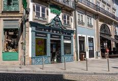 Facade of famous Moreno Pharmacy in Porto