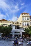 Porto, Portugal. August 12, 2017: The library called Lello facade where J. K. Rowling was inspired for the diagon alley bookstore,. With many tourists visiting Stock Images