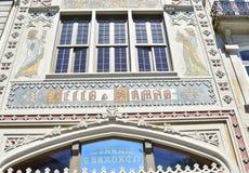 PORTO PORTUGAL - AUGUSTI 10, 2017: berömd Lello e Irmao bokhandel mest härliga bokhandlar i världen Arkivbilder