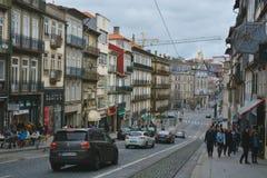 Porto, Portugal: centro da cidade histórico Este é um destino favorito do turista imagem de stock royalty free