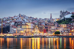 Porto, Portugal. Cityscape across the Douro River Royalty Free Stock Image