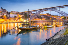 Porto, Portugal Cityscape. On the Douro River royalty free stock image