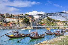 Porto, Portugal Cityscape Royalty Free Stock Images
