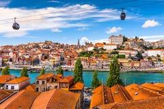Porto, Portugal cityscape. Porto, Portugal old town on the Douro River royalty free stock image