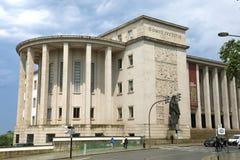 PORTO, PORTUGAL - 21 DE JUNHO DE 2018: Palácio da construção da corte de justiça em Porto, Portugal foto de stock royalty free