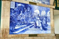PORTO, PORTUGAL - DECEMBER 10, 2018: Porto oud stationsao Bento, Portugal stock fotografie